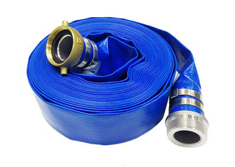 Good Quality PVC Water Hose & Blue Pvc Layflat Hose Aging Resistance For Water / Light Chemical Discharge on sale