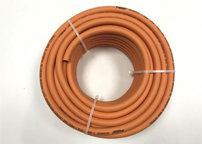 Orange Lpg Rubber Hose Flexible Natural Gas Lightweight Easy Handle