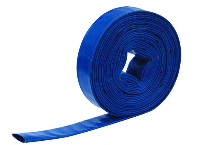 "BLUE PVC LAY FLAT DISCHARGE HOSE 2/"" ID X 300/'"