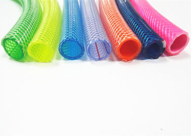 4 To 12 Bar High Pressure Pvc Polyester Braided Hose , Clear Vinyl Tubing