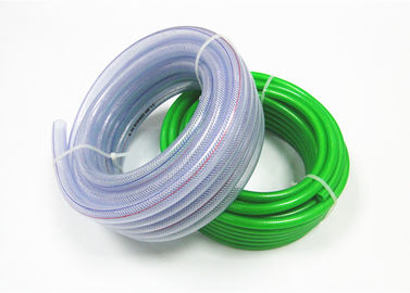 High Pressure Reinforced Clear Braided Pvc Hose Pipe Odorless Customized