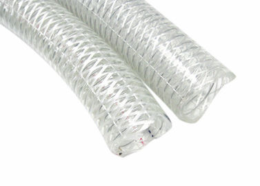 Customized High Pressure Pvc Flexible Hose Suction Steel Wire Or Fiber Braided