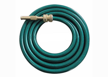 Green Flexible Garden PVC Hose Water Pipe Hose With Brass Connector