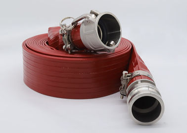 Plastic High Pressure Heavy Duty PVC Layflat Hose Pipe With Couplings