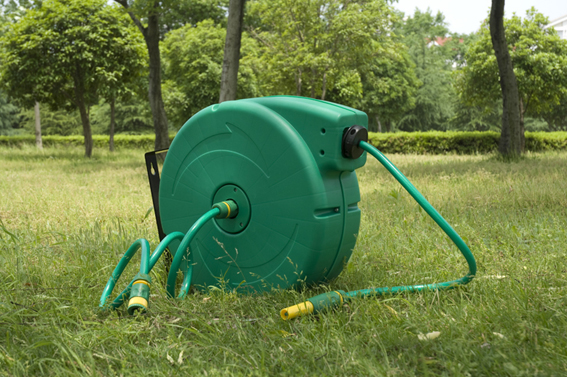 Wall Mounted Garden Hose Reel Automatic Retractable Simple Water ...